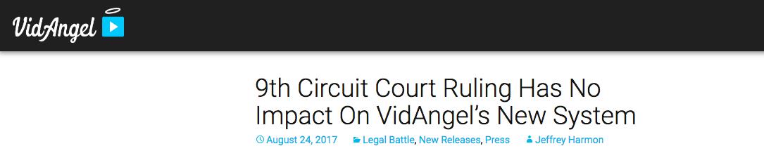 VidAngel says it isn't illlegal