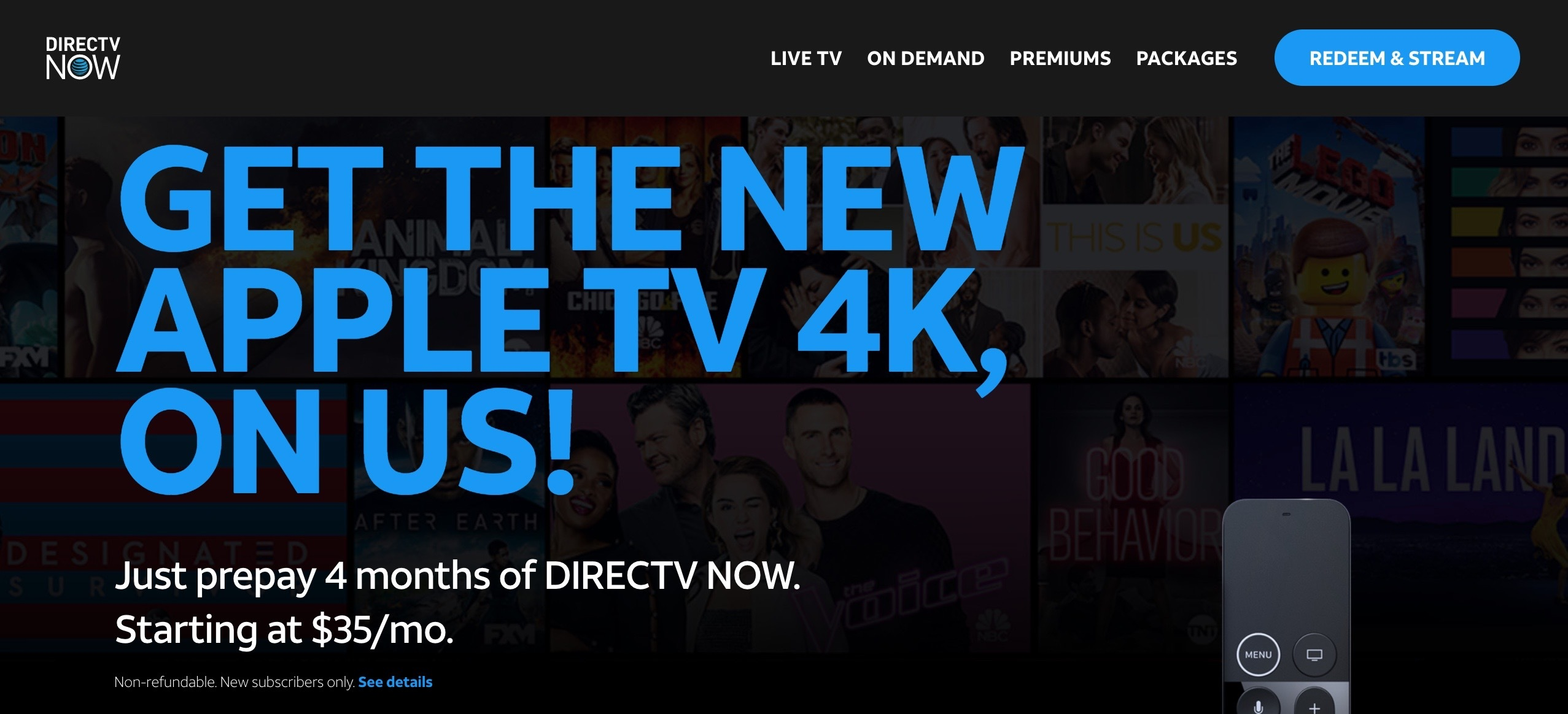 Apple TV DirecTV Now