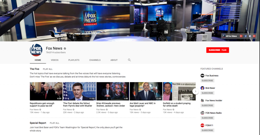 youtube tv cable alternative streaming fox news