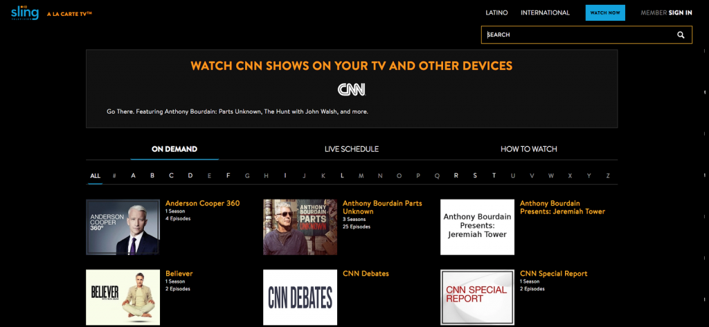 sling tv cnn cable alternative broadcast live news