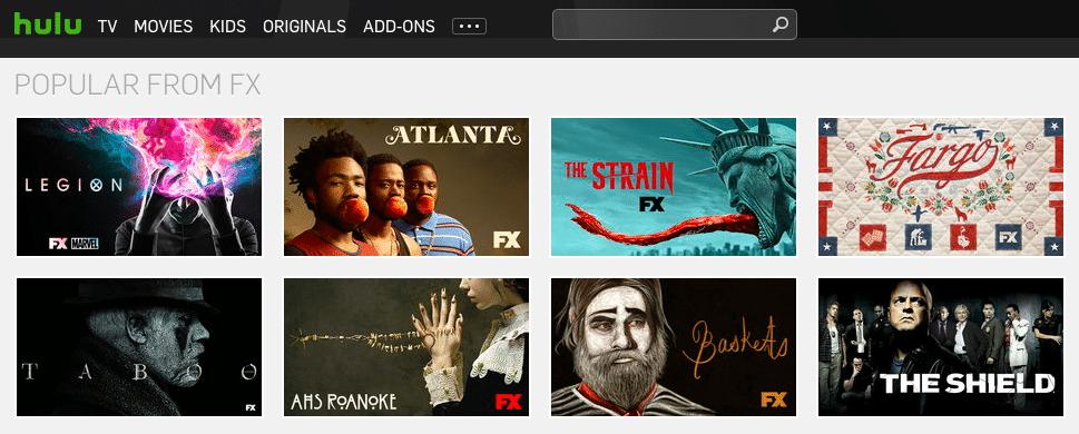 FX programs on Hulu