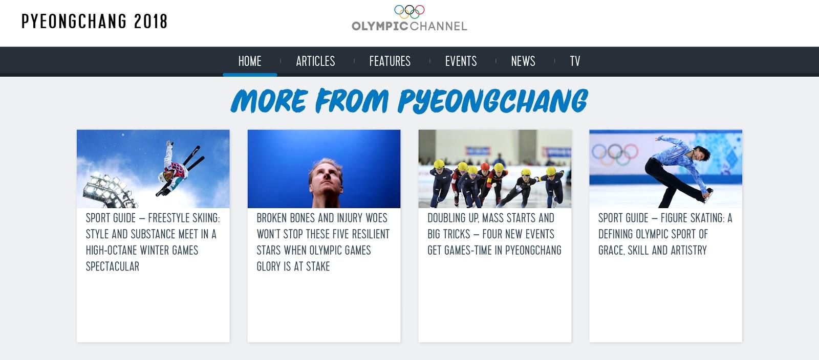 PyeongChang on Olympics Channel