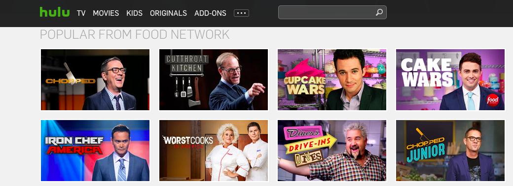 Food Network on Hulu