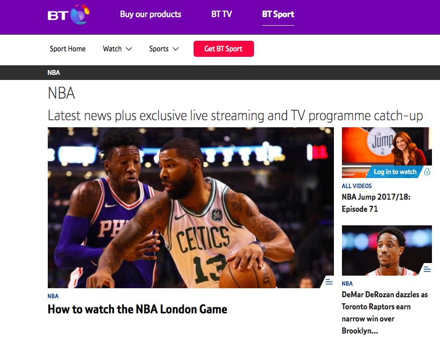 NBA on BT Sport