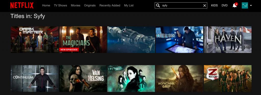 Syfy on Netflix