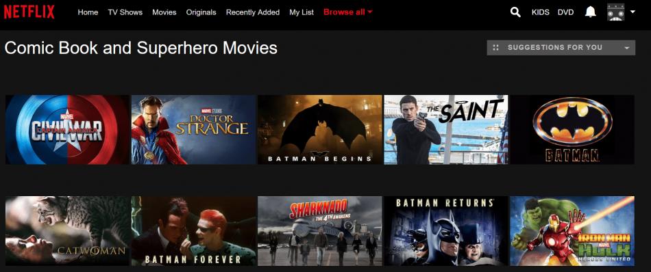Netflix menus hidden menus