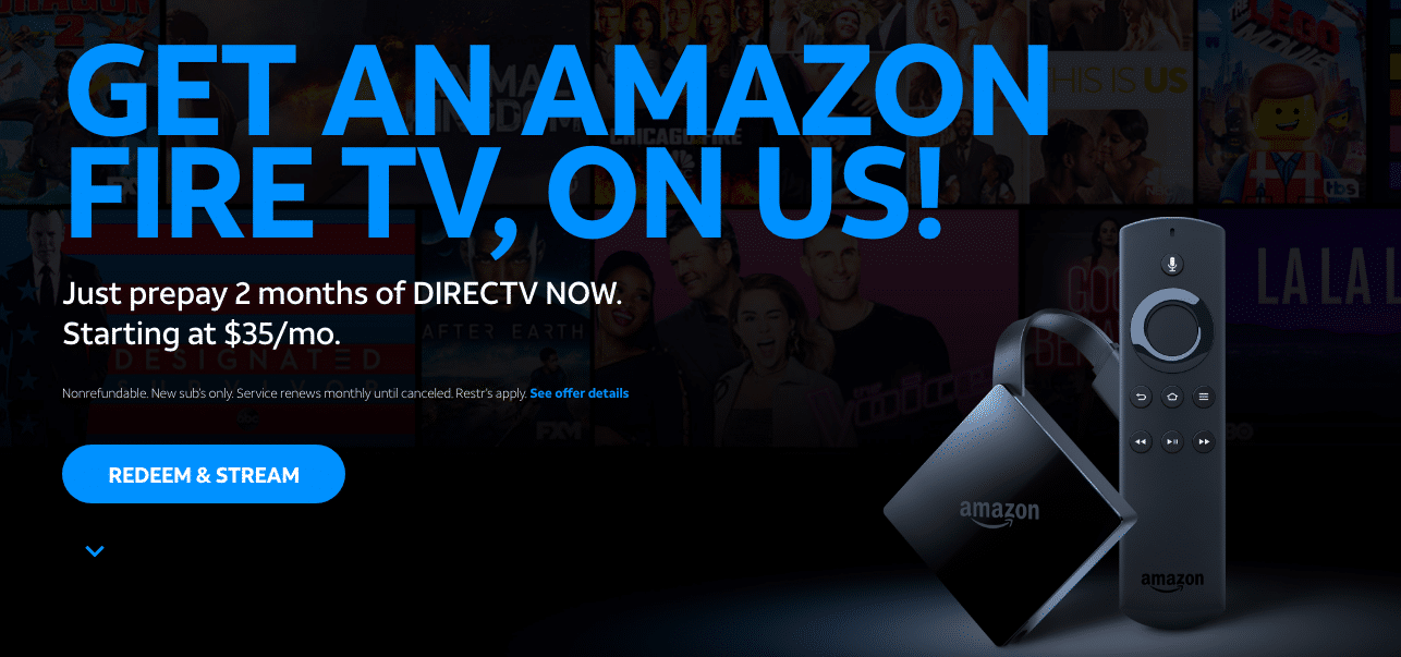 DirecTV Now Prepares for 4K Future with Free Amazon Fire TV Box