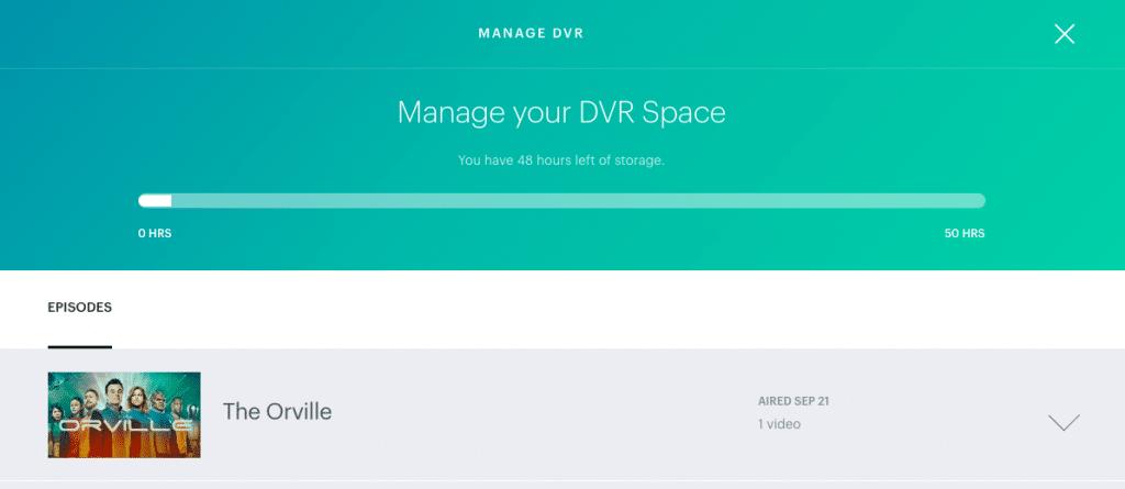 Cloud DVR on Hulu