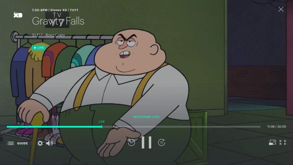 Live TV Controls on Hulu