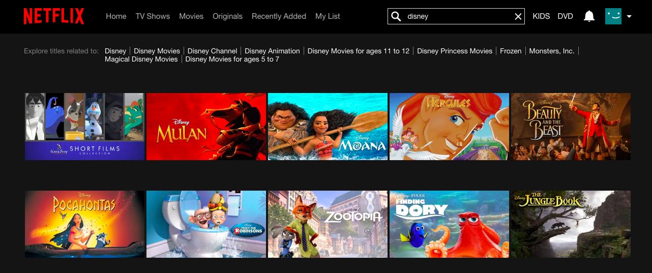 Disney on Netflix