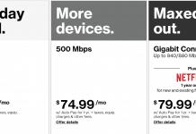 Verizon speeds
