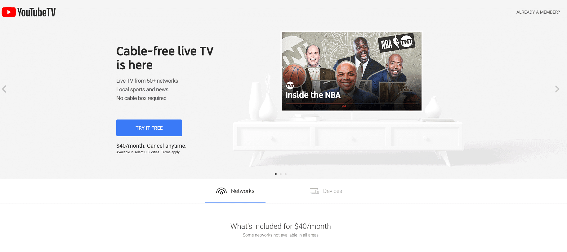 stream YouTube TV