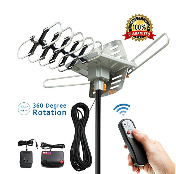 rotating outdoor antenna ota signal cord-cutting watch ion television