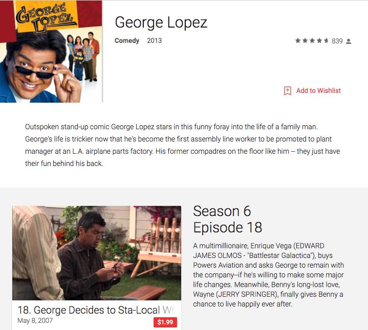 watch george lopez on-demand vod download episodes