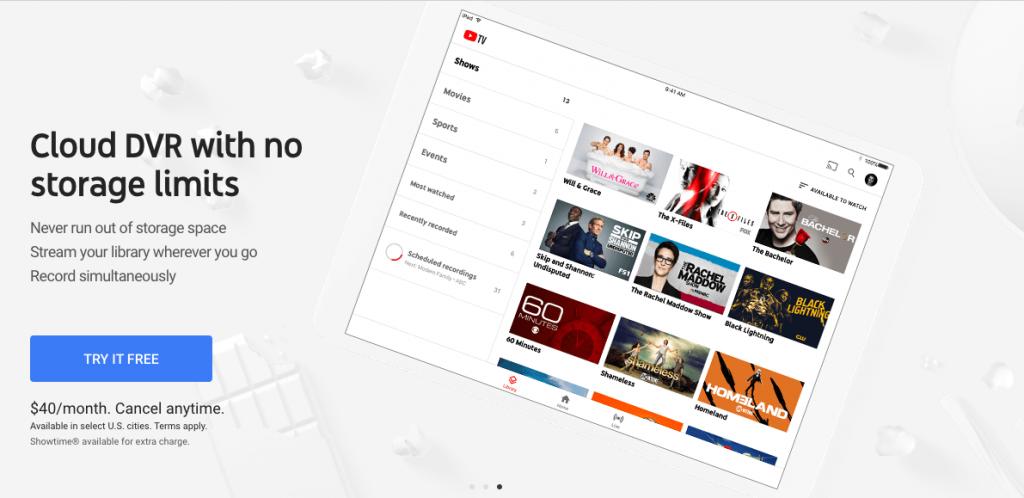 youtube tv dvr vs. sling dvr recording live streaming shows cable alternatives