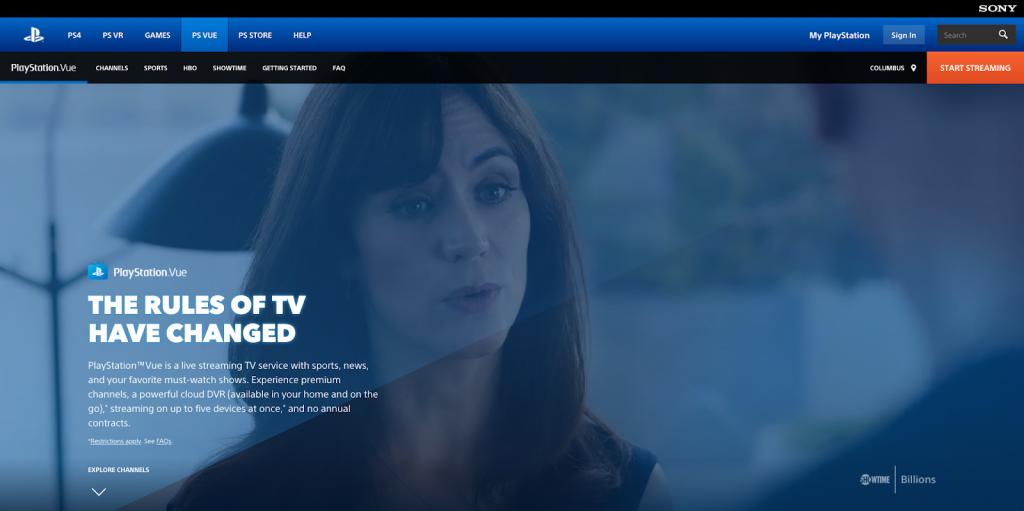 PlayStation Vue vs. DirecTV Now streaming live tv sports cable alternatives internet TV