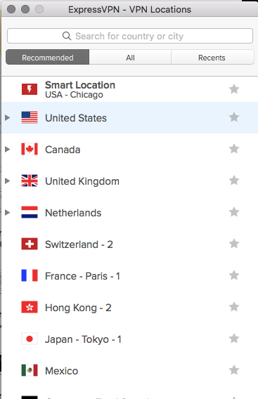 express vpn server choices locations uk