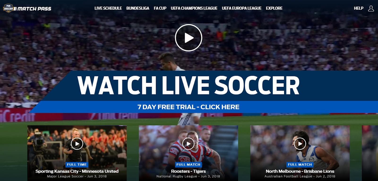 football/soccer fox soccer match pass