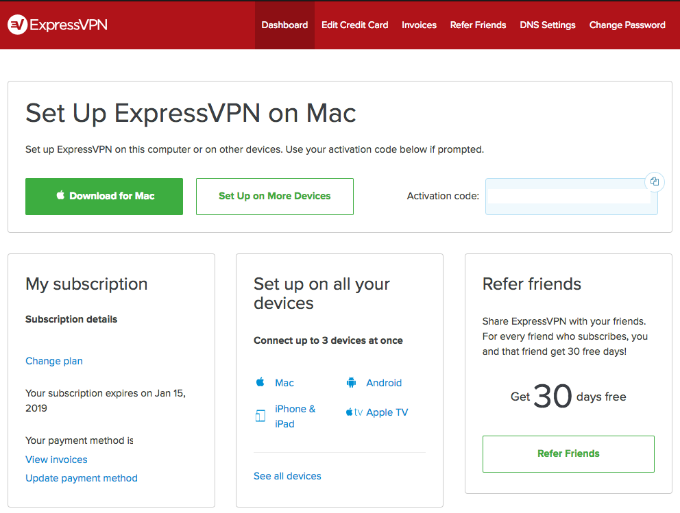 ExpressVPN dashboard unblocking uk content geoblocking tvplayer.com