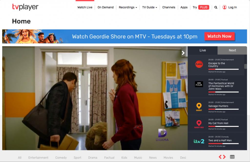 watch tvplayer online uk georestrictions geoblocking vpn expressvpn unblock