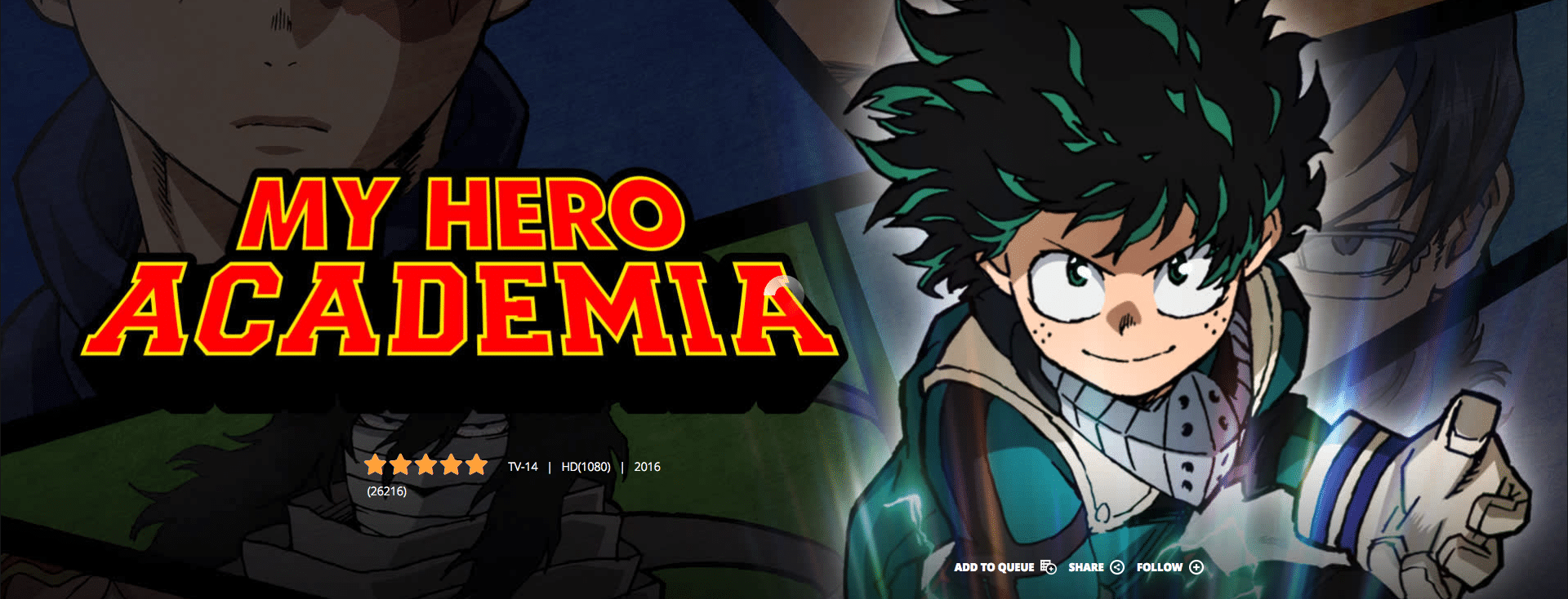 Funimation my hero academia watch anime online anime streaming services free
