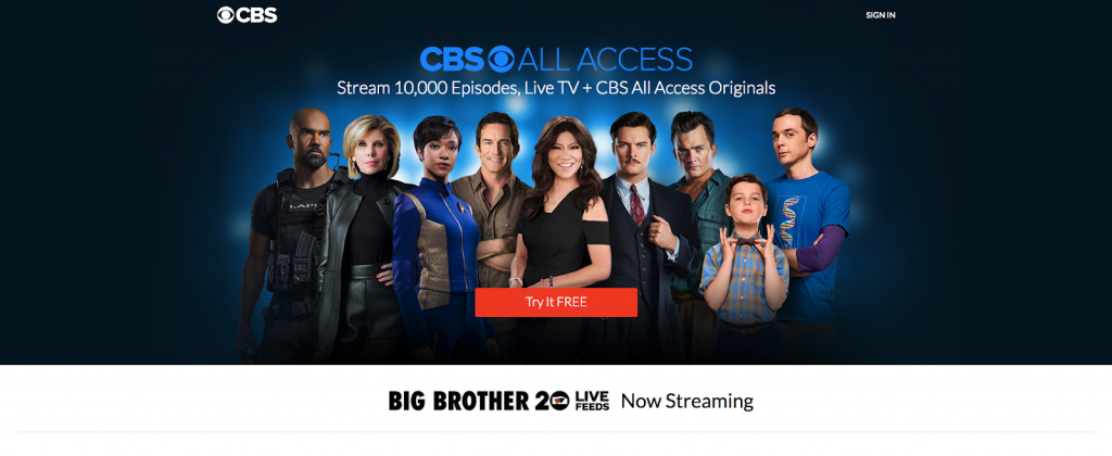 cbs all access watch cbs without cable network ota antenna live tv alternatives cable