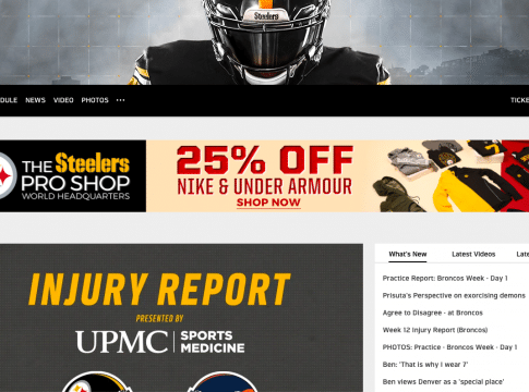 How to watch pittsburgh steelers games without cable nfl streaming alternatives