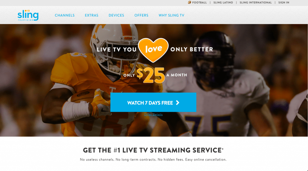 sling tv watch this is us without cable