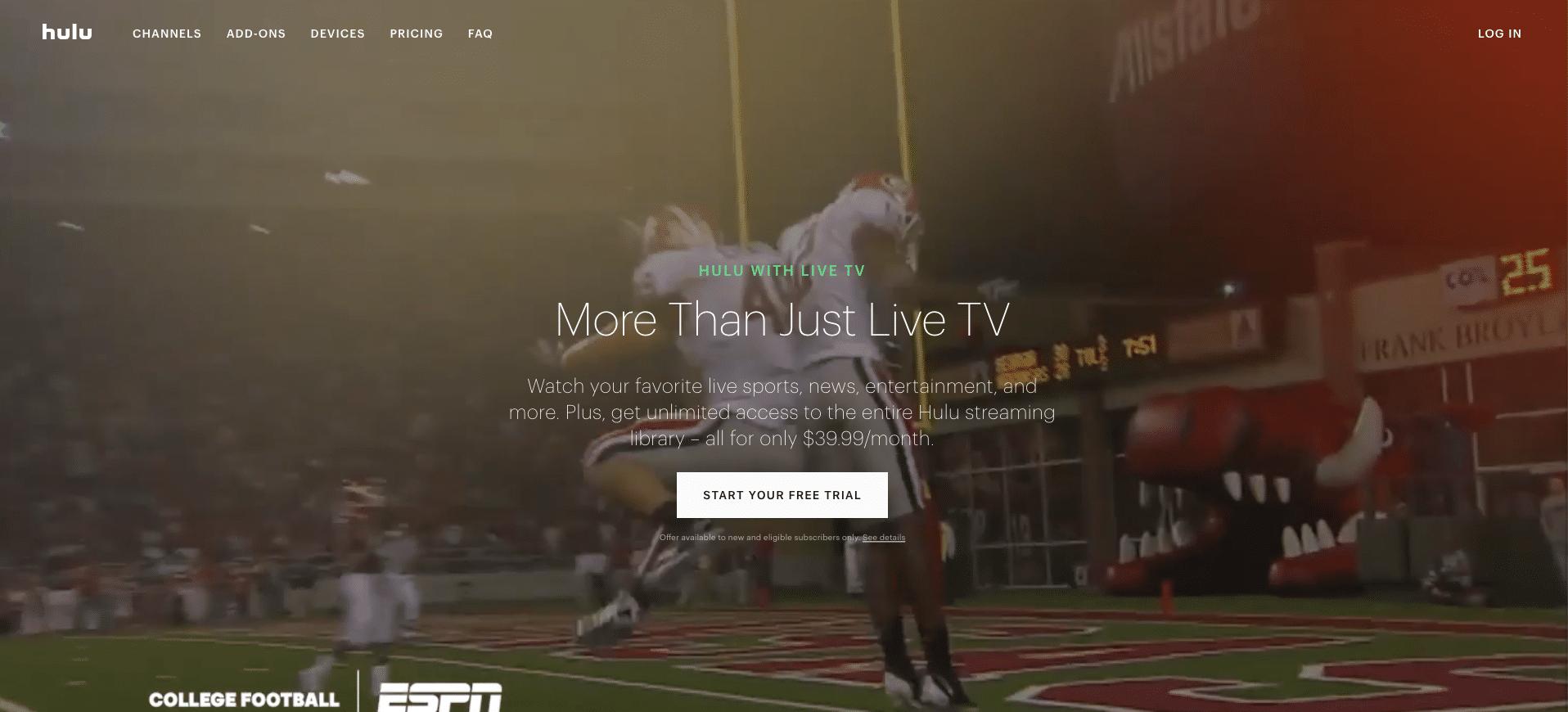 hulu with live tv