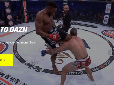 DAZN bellator mma without cable