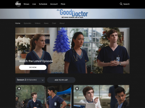 watch the good doctor without cable