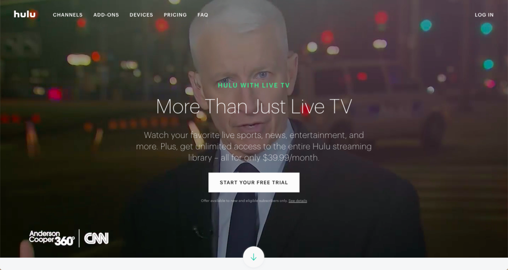 watch cnn live on roku without cable hulu with live tv