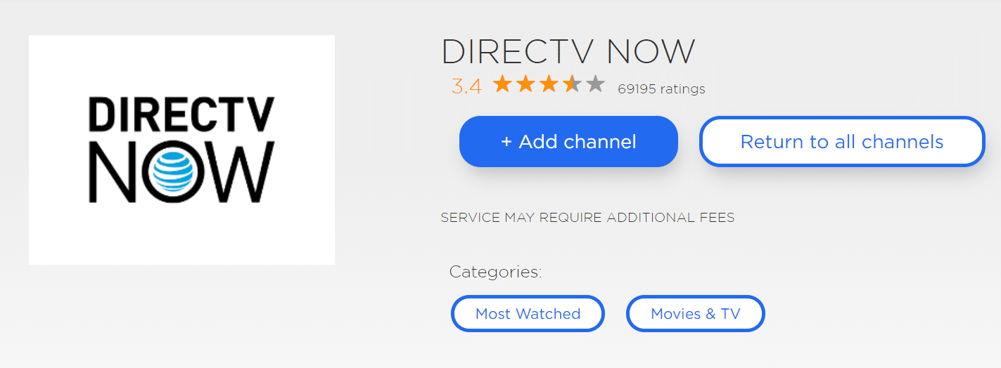 Directv Now fox news roku