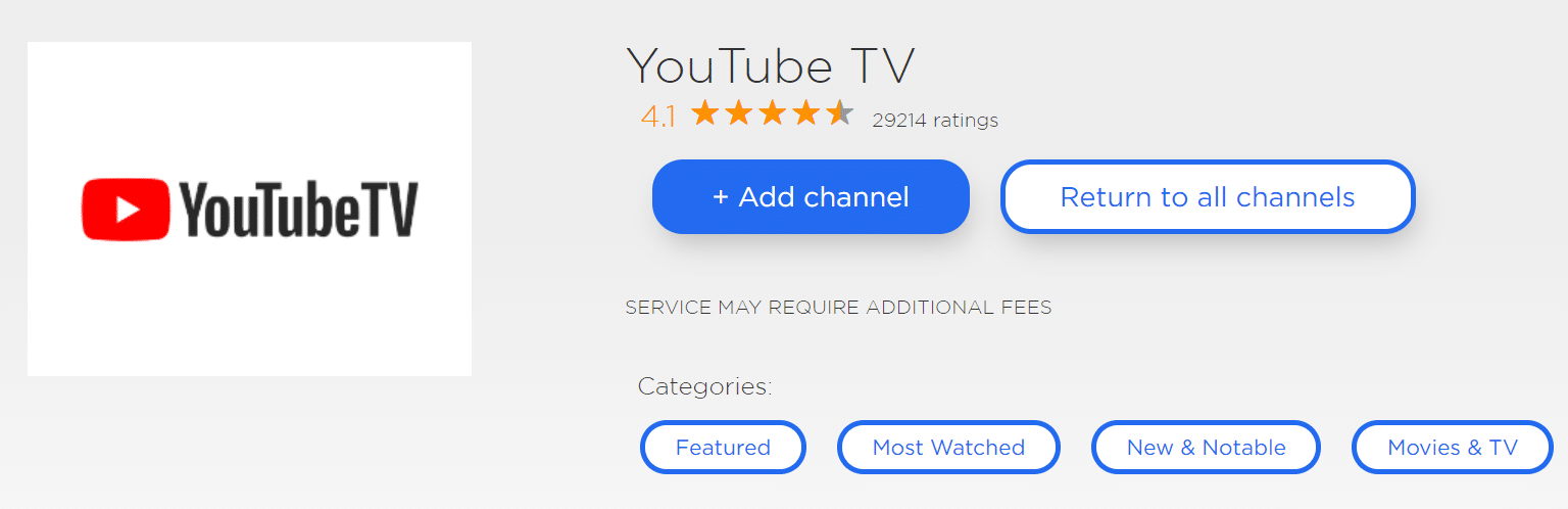 youtube tv fox news roku