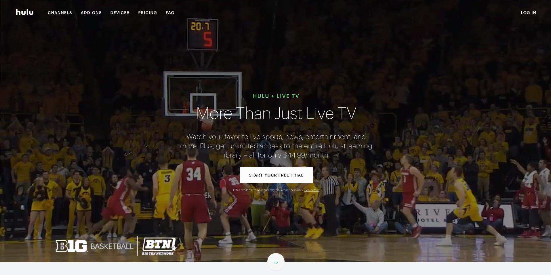 Hulu with Live TV simultaneous streams