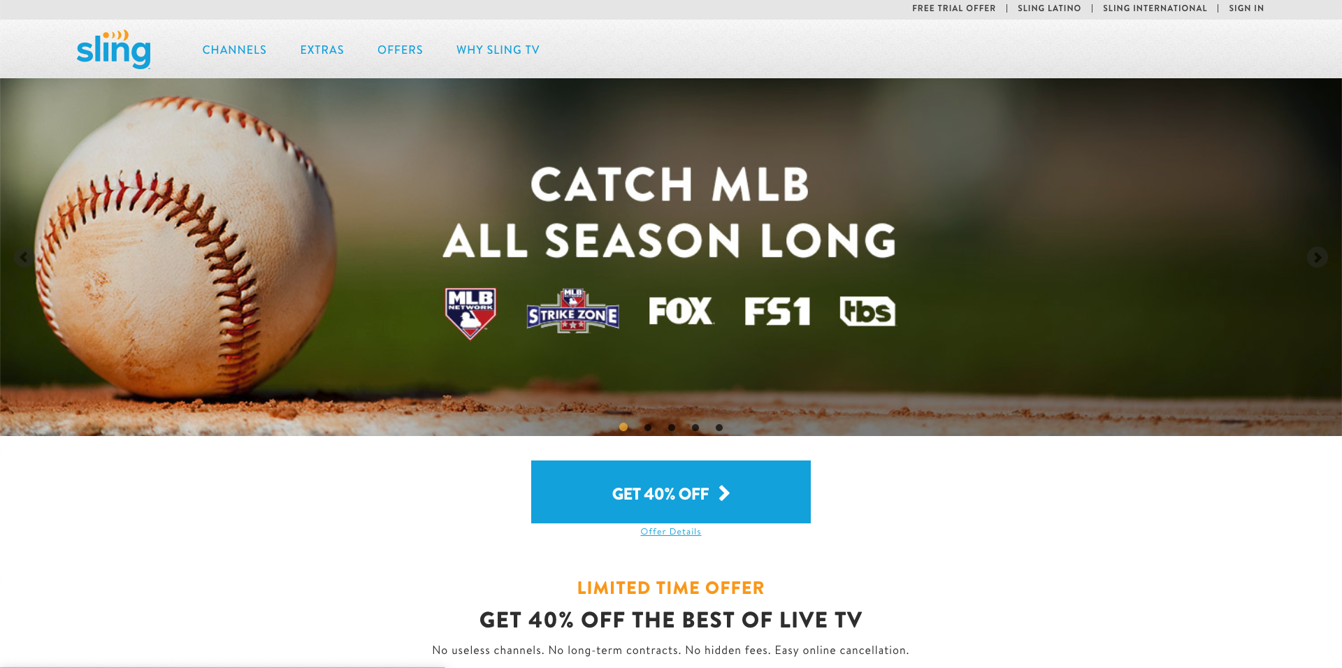 sling tv fox without cable 2019