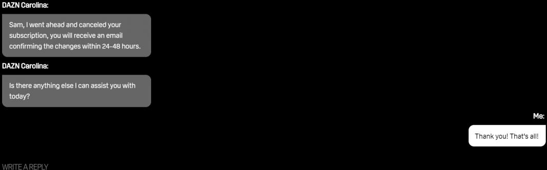 Dazn Live Chat