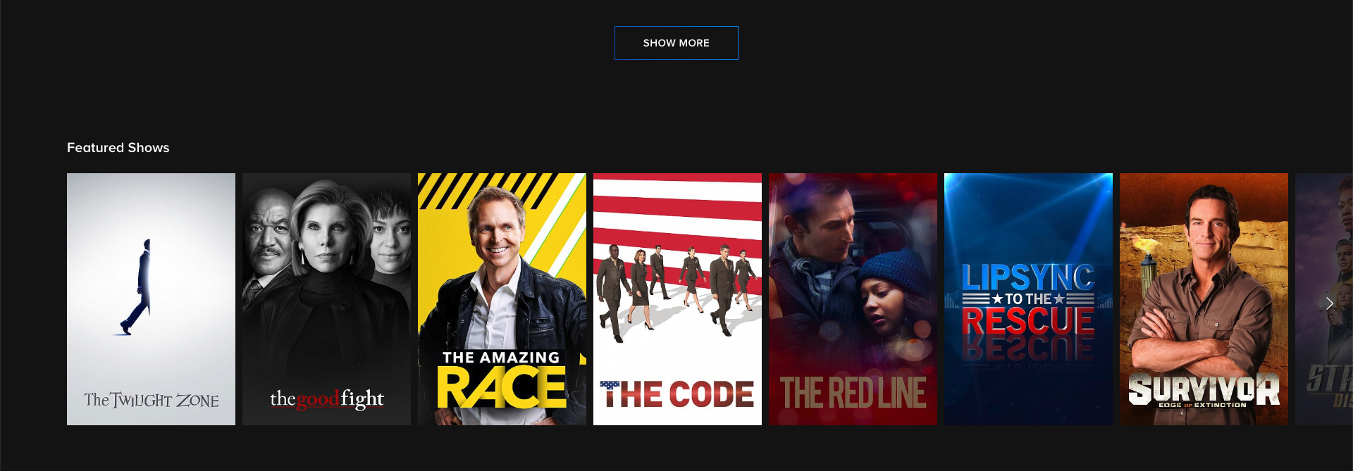 cbs all access on-demand library