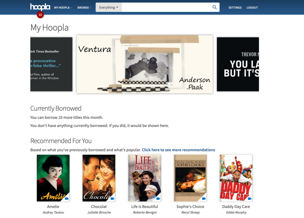 hoopla best free streaming services
