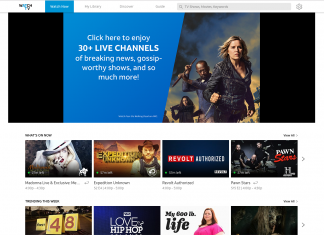 AT&T WatchTV on-demand library