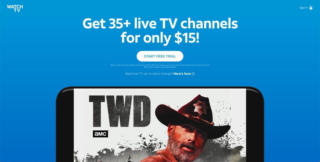 AT&T watchTV sling tv alternatives 2019