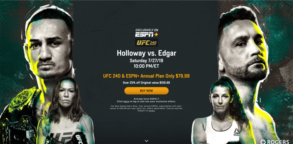 how to watch mma ppv on espn plus without cable
