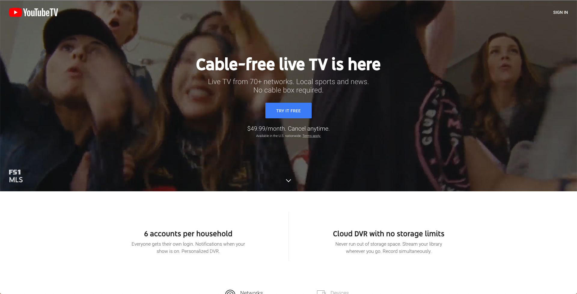 watch youtube tv without cable