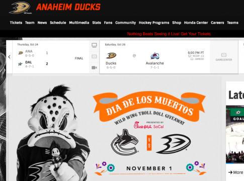 Watch the Anaheim Ducks