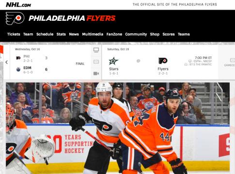 Watch the Philadelphia Flyers