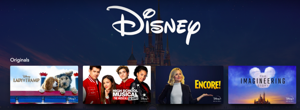 Disney+ complete list of streaming services