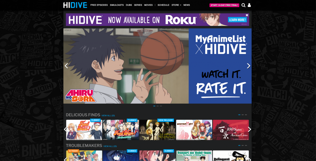 watch anime without cable hidive