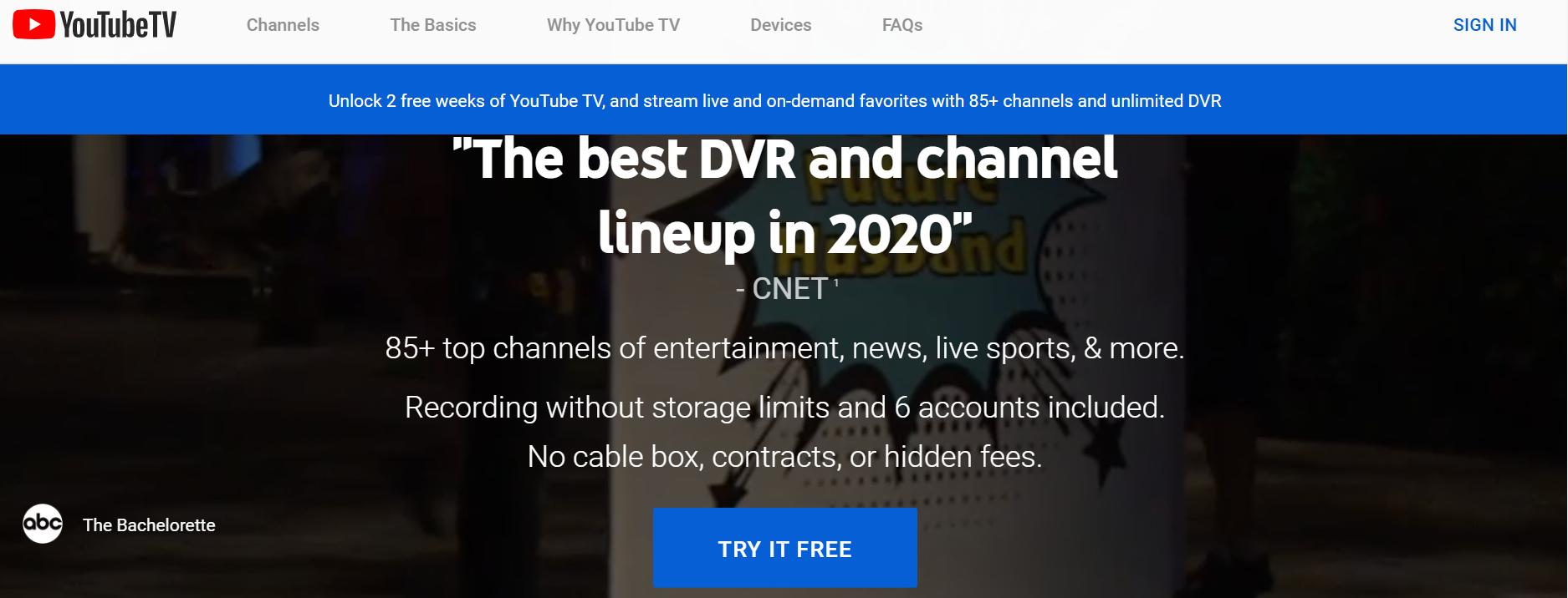 youtube tv cheddar news
