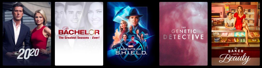 Popular ABC shows