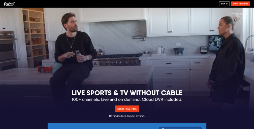 watch starz without cable fubotv
